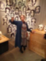 Artist Amalia Bille talks about her Artwork at Mölndals Stadsmuseum on our Street Art Saga Tour in her GIBCA exhibition on Mölndals Stadsmuseum.