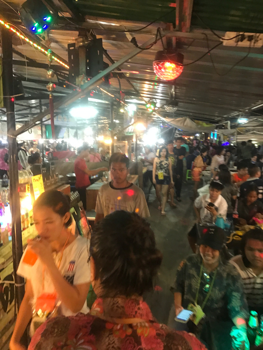 A Photo from the Street Food Market on Song Kran in Buriram, Thailand. Song Kran Festive mood is complete with all the great Street Food they serve on the Street Food Court.