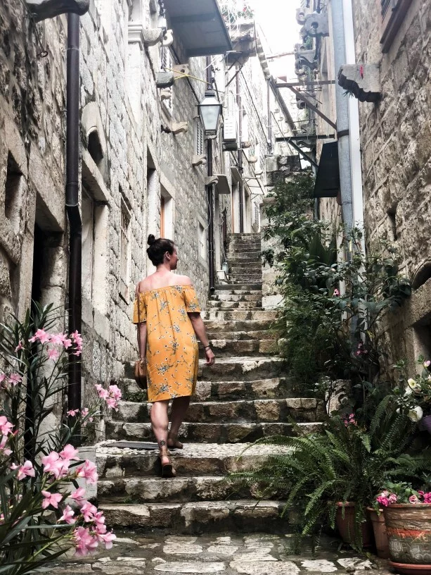 Alleys in Dubrovnik. There's plenty of historical and ancient sites in Dubrovnik making Croatia a Top Europe Destination to travel sometime soon!