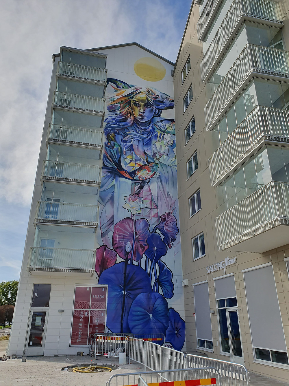Amazing Mural Art by Lily Brik for the Artscape Saga Project 2019.