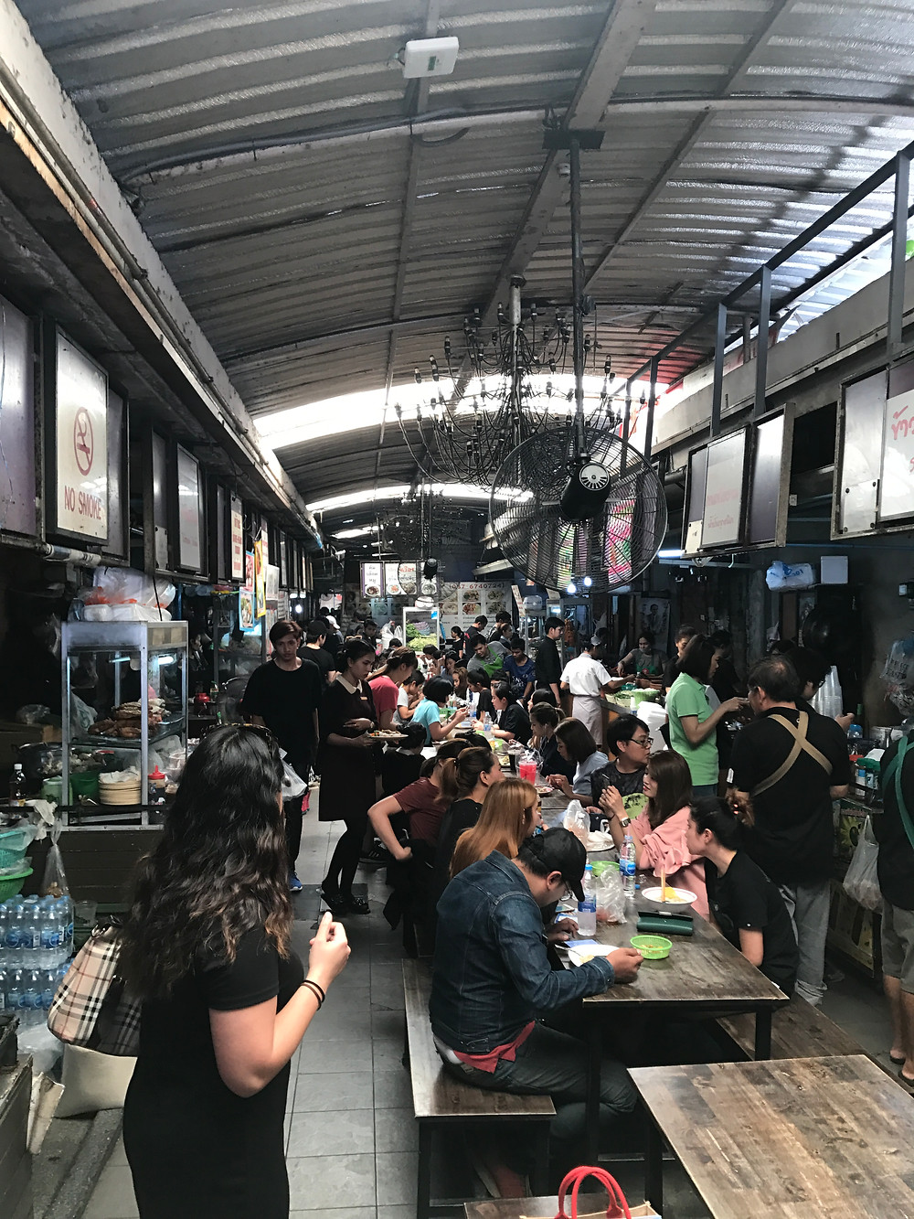 """This food photo is on a """"Street Food Hub"""" in Bangkok where a lot of locals eat their lunch. In the Street Food Guide you'll find more Street Food Spots in Bangkok, Buriram and on Koh Mak Island in Thailand."""