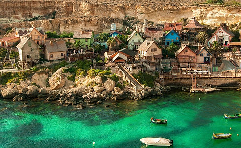 Pop Eye Village on Malta. Find Travel Inspiration to Top Destinations on Food and Travel Guides.