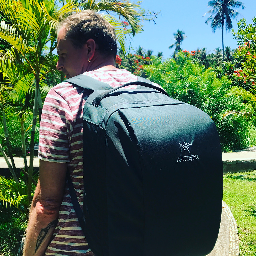 Not only suitable for outdoor adventures in wet or snowy mountains! We love our Arcteryx Backpack!