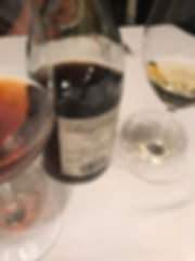 A glass of Vintage Tokaji Wine as well as a newer dito. Tokaj wine is so rich and aromatic, a joy to savor.
