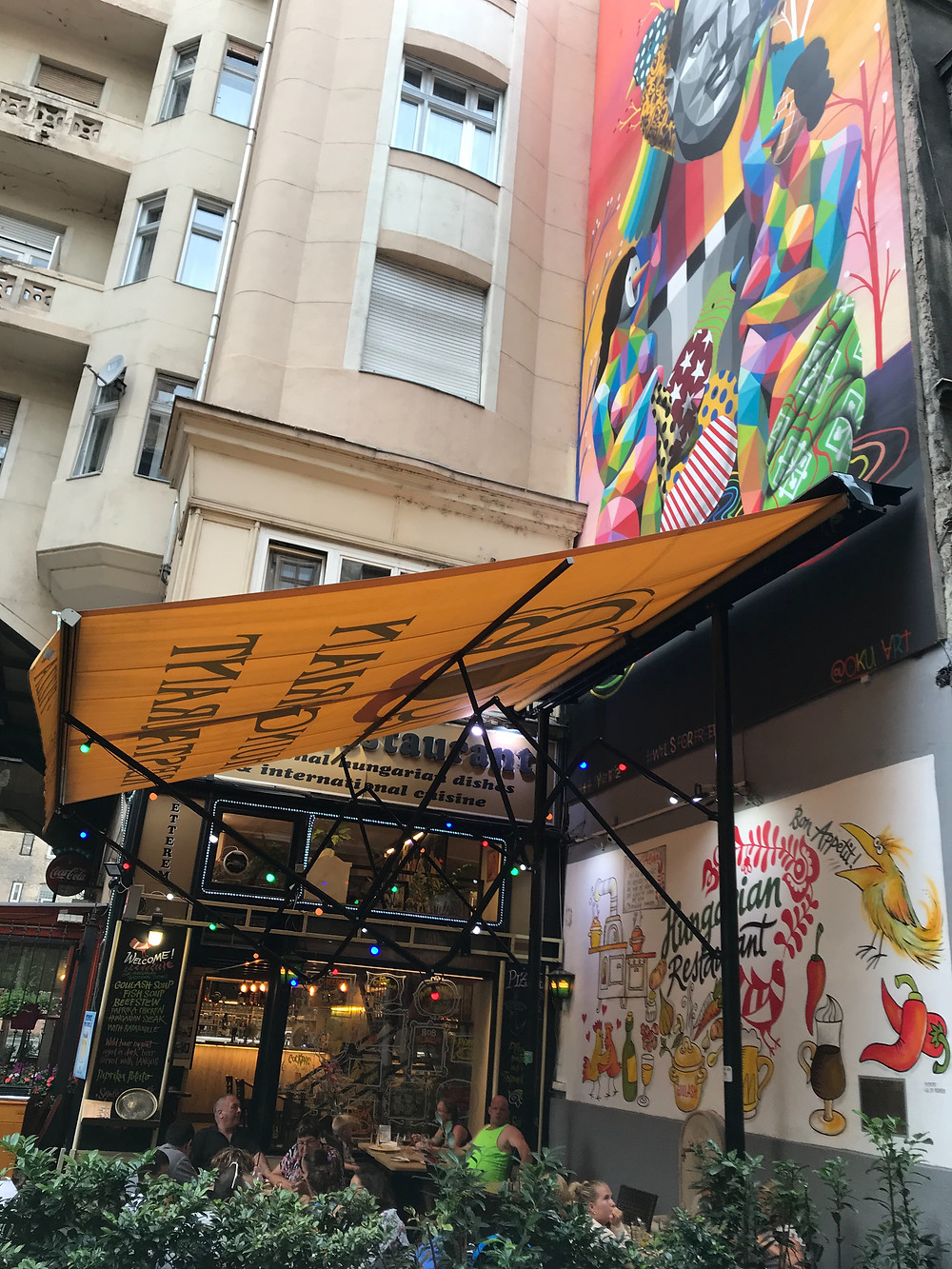 Street Art is a natural view in Budapest. If you love the Art of the Streets this is the place to go. Read our Budapest Street Art Guide on Sticks & Spoons Food Travel.