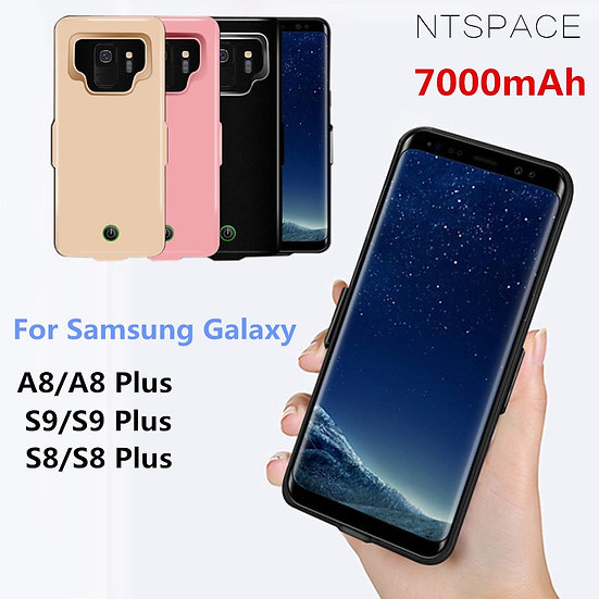 For Samsung Galaxy S9 S8 A8 Battery Case 7000mAh Power Bank