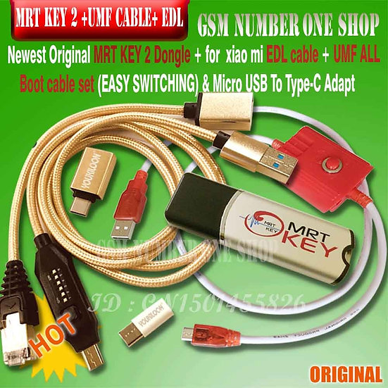 MRT KEY 2 Dongle +  ALL Boot Cable Set (EASY SWITCHING) & Micro USB to Type-C
