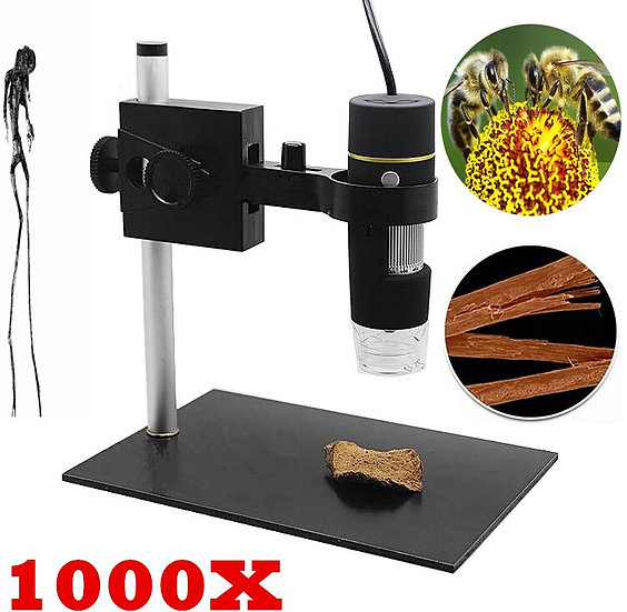 USB Digital Microscope Camera LED Electronic Microscope Magnifier 50X~1000X