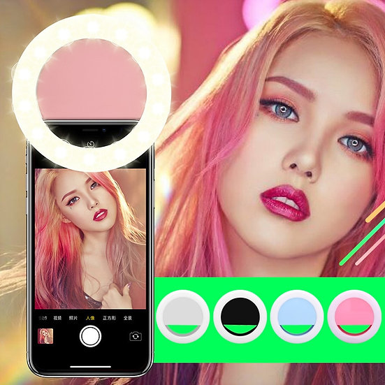 Rechargeable USB Charge Selfie Portable LED Ring Fill Light (All Mobile Devices)