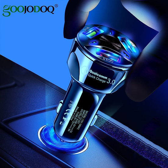 Universal Dual USB Car Charger 5V 3.1A Mini Charger Fast Charging With LED