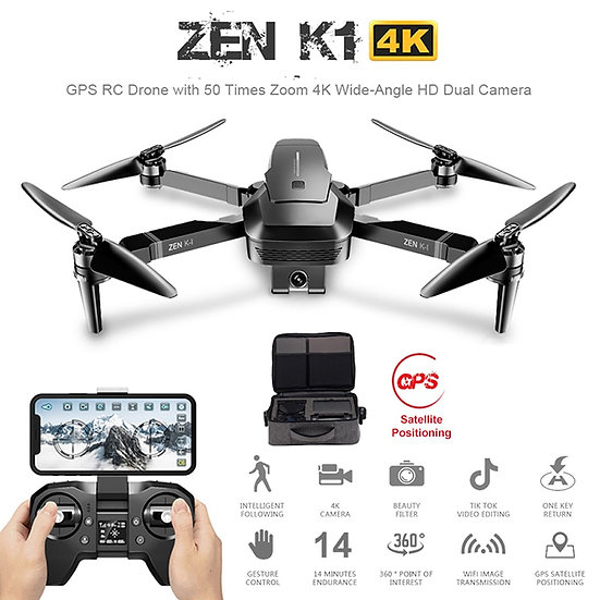 Visuo ZEN K1 GPS RC Drone With 50 Times Zoom 4K