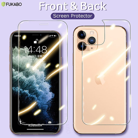 A Front & Back Full Tempered Glass for iPhone