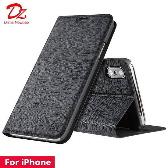 For Iphone Leather Case  Flip Cover Card Slot Stand
