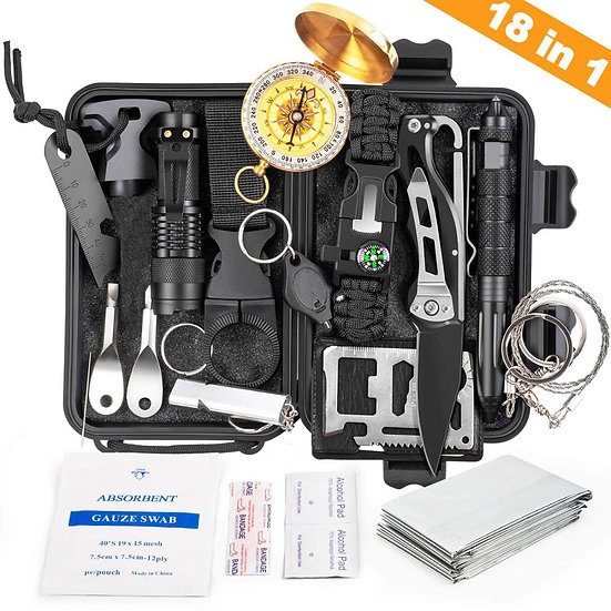 Survival Gear Kit 18 in 1 Emergency Survival Gadget Tactical