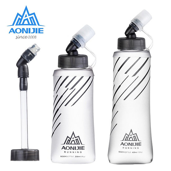 AONIJIE Soft Flask Collapsible 250ml 420ml Water Bottle Hydration