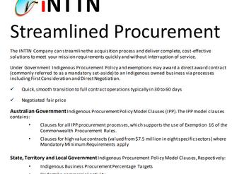 INTTN Streamline Acquisition Process