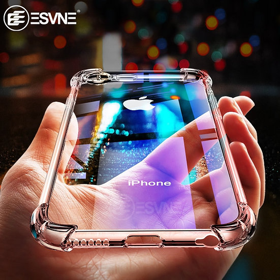 Luxury Shockproof Transparent Silicone Phone Case for iPhone Protective