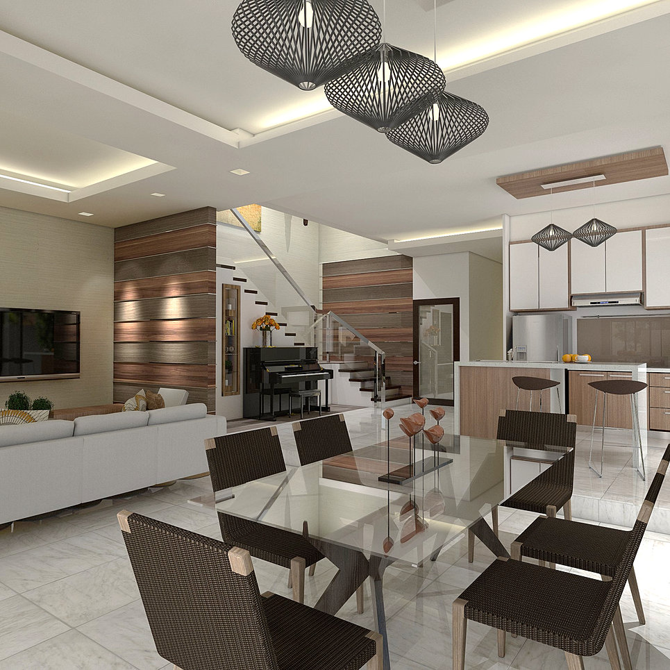 Living Kitchen Interior Design Commercial