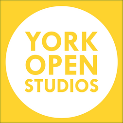 York Open Studios Logo White Yellow Back