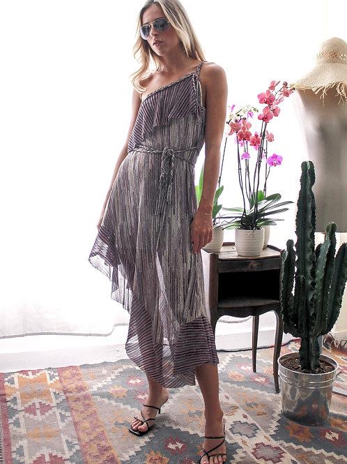 Lila Dress Honey Shiny