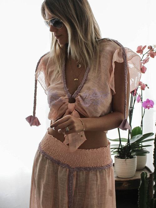 Croptop Kim Linen & lace