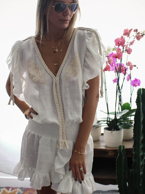 Joe Dress Linen & lace