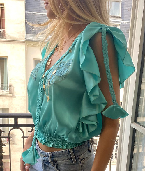 Joe Blouse Satin Silk - 2 colors available