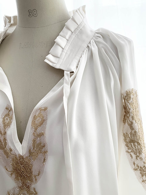 Kendal Blouse Silk & lace