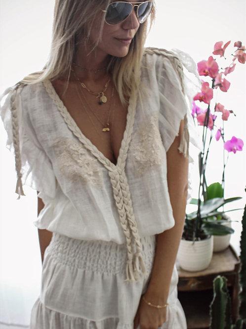 Joe Blouse Linen & lace 6 colours available