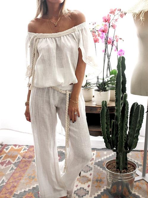 Kode Pants Linen Ivory