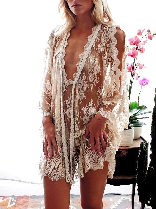 Kris Caftan French Lace - 4 colors available