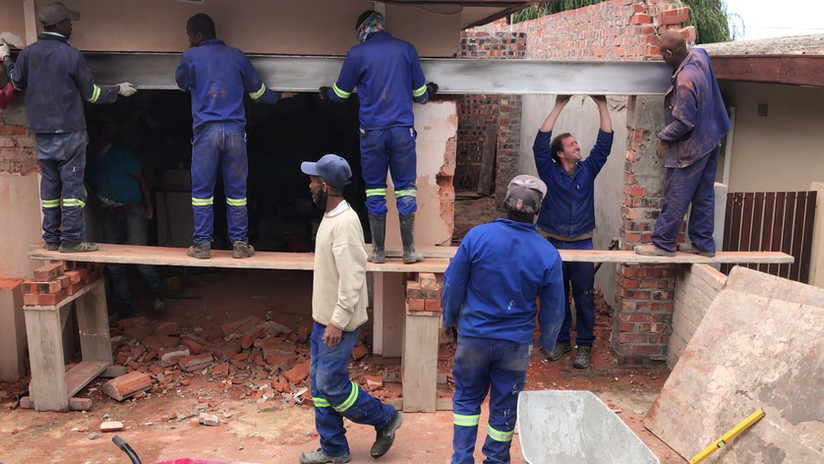 Metal beam construction