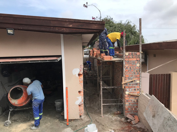 Enlarging the garage