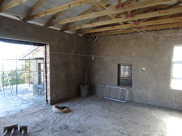 Cement tiled roof construction