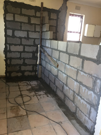 Enlarging the bathroom