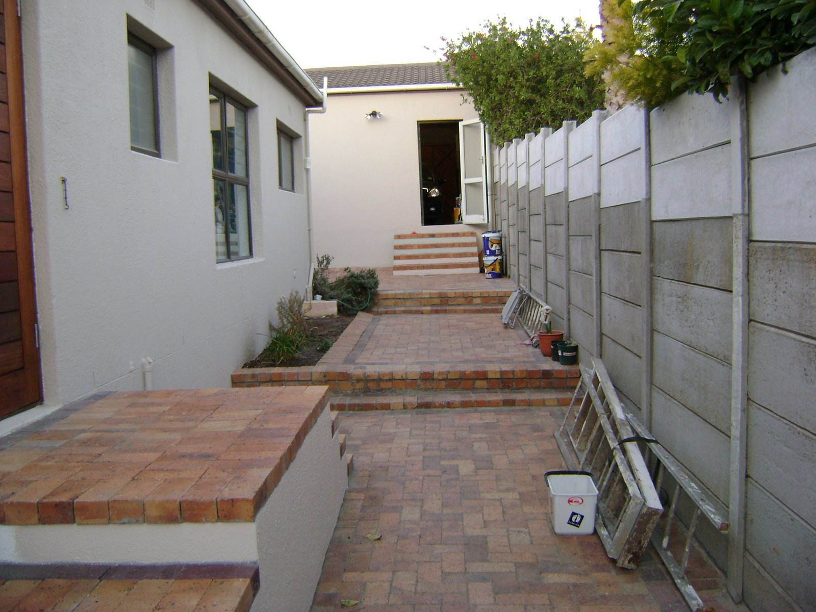 New steps and paving