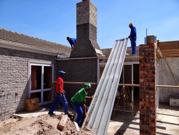 Metal roof sheet installation