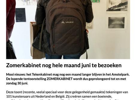Expositie Tekenkabinet in Amsterdam verlengd.