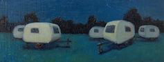 caravans schilderij