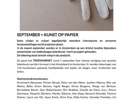 Nieuwe presentatie Tekenkabinet in Amsterdam