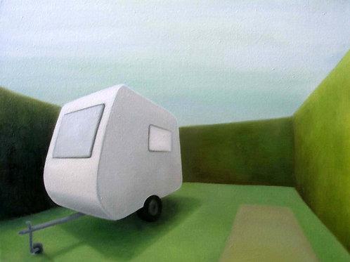 Schilderijtje caravan