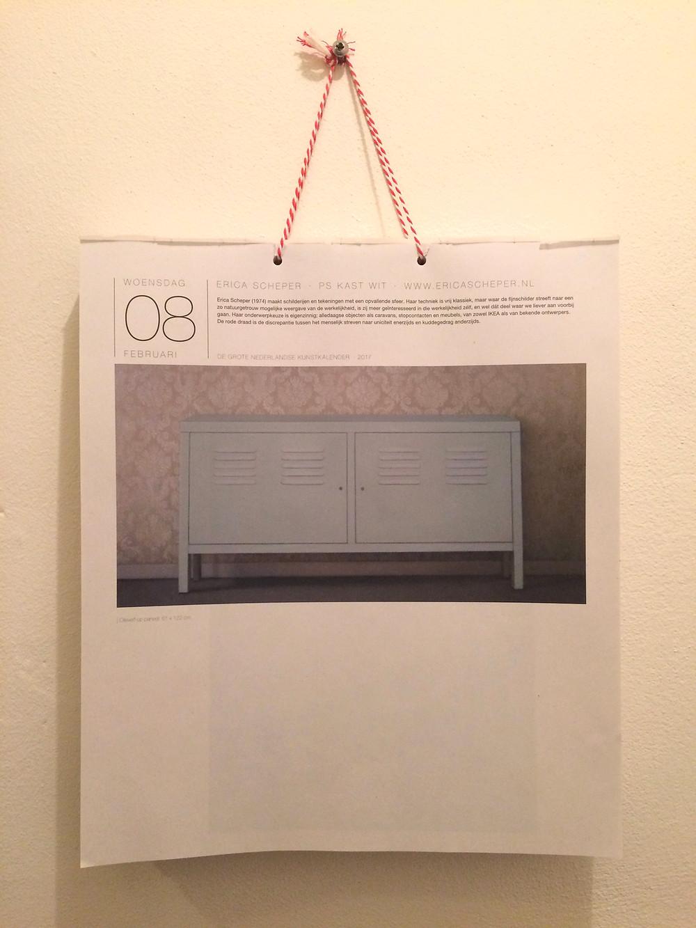Vandaag een afbeelding van werk van mij in De Grote Nederlandse Kunstkalender.