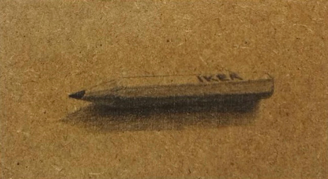 Pencil on MDF