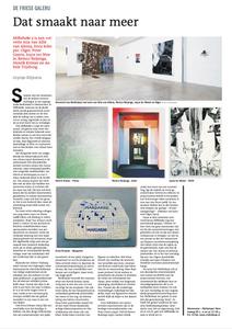 recensie expositie melklokaal Leeuwarder Courant