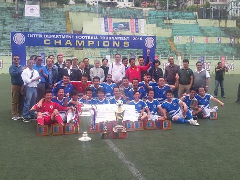 RM&DD lifts inter-departmental football trophy