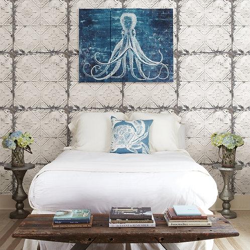 Donahue White Tin Ceiling Wallpaper 2922-22305