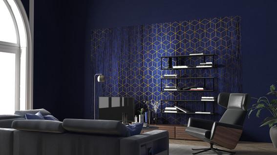 Blue Mystic Wall Mural