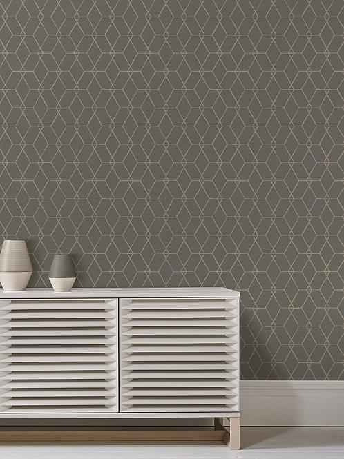 Osterlen Taupe Trellis Wallpaper 2889-25252