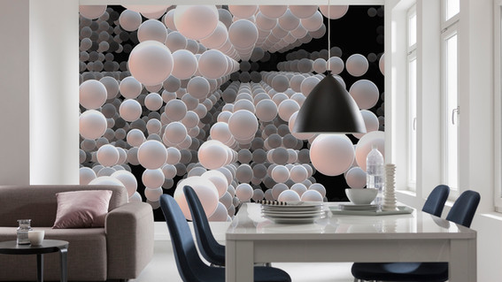 3D Spherical Wall Mural
