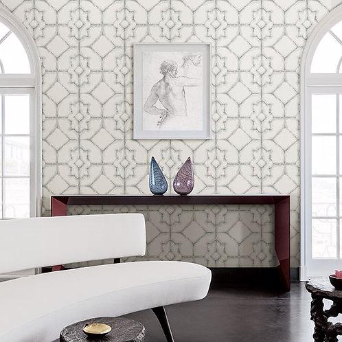 Verandah Grey Shibori Wallpaper 2902-25528